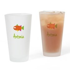 Antonia is a Big Fish Drinking Glass