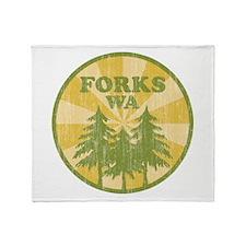 Forks, WA Throw Blanket
