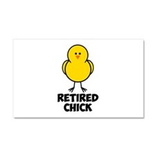 Retired Chick Car Magnet 20 x 12
