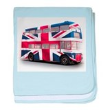 London Bus with Union Jack an baby blanket
