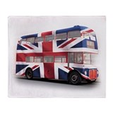 London Bus with Union Jack an Throw Blanket