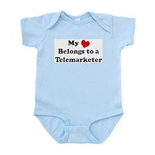 Heart Belongs: Telemarketer Infant Creeper