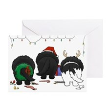 Newfie Butt Xmas Greeting Cards (Pk of 10)