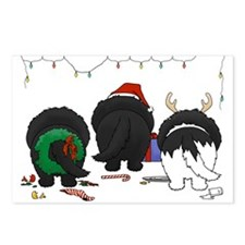 Newfie Butt Xmas Postcards (Package of 8)