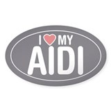 I Love My Aidi Oval Sticker/Decal