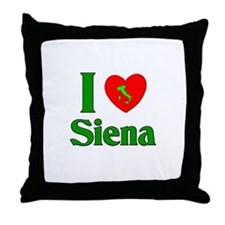 I Love Siena Throw Pillow