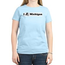 Mountain Bike Michigan Women's Pink T-Shirt