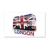 London Bus with Union Jack an Car Magnet 20 x 12
