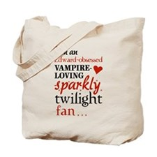 Vampire-loving sparkly twilight fan Tote Bag