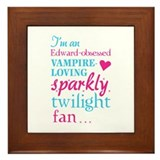 Vampire-loving sparkly twilight fan Framed Tile