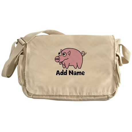 Add Name - Farm Animals Messenger Bag