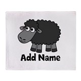 Add Name - Farm Animals Throw Blanket