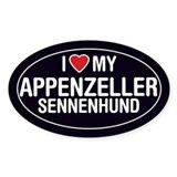 Love My Appenzeller Sennenhund Oval Sticker/Decal