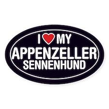 Love My Appenzeller Sennenhund Oval Sticker/Decal