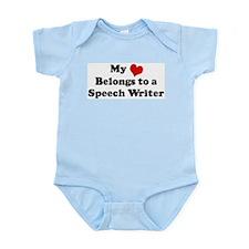 Heart Belongs: Speech Writer Infant Creeper