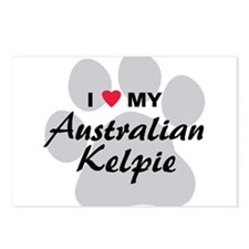 I Love My Australian Kelpie Postcards (Package of