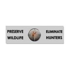 Preserve Wildlife ANTI-Hunters Car Magnet 10 x 3