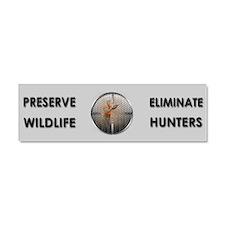 Preserve Wildlife ANTI-Hunters Car Magnet 10 x 3