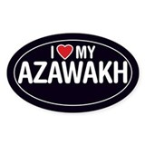 I Love My Azawakh Oval Sticker/Decal