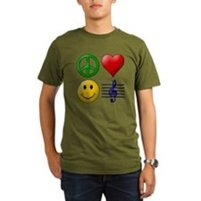 Peace, Love, Happiness and Mu T-Shirt