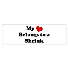 Heart Belongs: Shrink Bumper Bumper Sticker