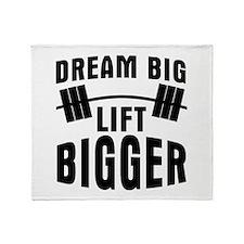 Dream big lift bigger Throw Blanket