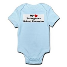Heart Belongs: School Counsel Infant Creeper