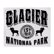 Glacier Established 1910 Throw Blanket