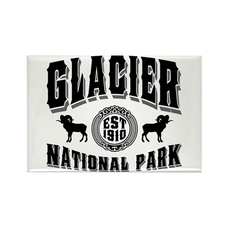 Glacier Established 1910 Rectangle Magnet