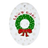 Cherokee Christmas Wreath Ornament (Oval)