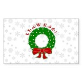 Cherokee Christmas Wreath Decal