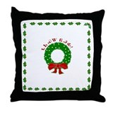 Cherokee Christmas Wreath Throw Pillow