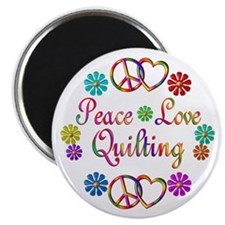 Peace Love Quilting Magnet