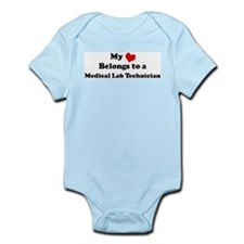 Heart Belongs: Medical Lab Te Infant Creeper