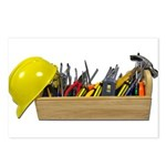 Hardhat Long Wooden Toolbox Postcards (Package of