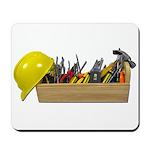 Hardhat Long Wooden Toolbox Mousepad