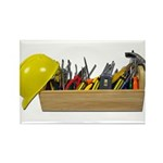 Hardhat Long Wooden Toolbox Rectangle Magnet (10 p