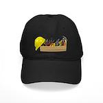 Hardhat Long Wooden Toolbox Black Cap