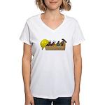 Hardhat Long Wooden Toolbox Women's V-Neck T-Shirt