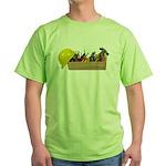 Hardhat Long Wooden Toolbox Green T-Shirt