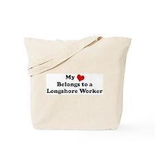 Heart Belongs: Longshore Work Tote Bag