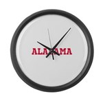 Crimson Alabama Large Wall Clock
