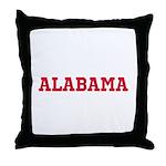 Crimson Alabama Throw Pillow