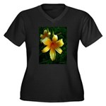 daylily daydreams v.3 Women's Plus Size V-Neck Dar
