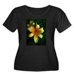 daylily daydreams v.3 Women's Plus Size Scoop Neck