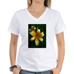 daylily daydreams v.3 Women's V-Neck T-Shirt