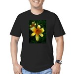 daylily daydreams v.3 Men's Fitted T-Shirt (dark)