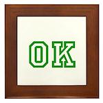 green OK Framed Tile