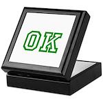 green OK Keepsake Box