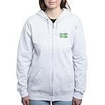 green OK Women's Zip Hoodie